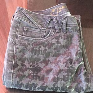 Skinny print jeans